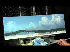 ▶ Time Lapse Online Painting Lessons Advanced clouds by Tim Gagnon www.timgagnon.com - YouTube