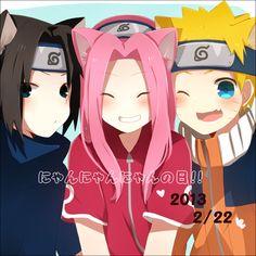 Pixiv Id 4555872, NARUTO, Uchiha Sasuke, Uzumaki Naruto, Haruno Sakura, Team 7