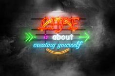 Efecto neon, photoshop