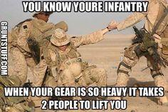 Happy Wednesday! #humpday #infantry #soldier #grunt #11B #RTO #AG #rucksackflop #11C #mortars #gear4grunts