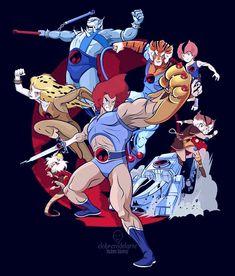 Thundercats by Ruben Gomez Best 80s Cartoons, Old School Cartoons, Classic Cartoons, Thundercats Cartoon, Thundercats 1985, Cartoon Shows, Cartoon Characters, Gi Joe, Saturday Morning Cartoons