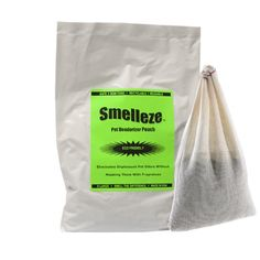 SMELLEZE Reusable Cat Smell Removal Deodorizer Pouch: Removes Stench Without Cover-Ups in 300 Sq. Ft. *** To view further, visit