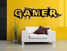 Wall Room Decor Art Vinyl Sticker Mural Decal Gamer Word Game Big Large AS788 in Home & Garden, Home Décor, Decals, Stickers & Vinyl Art | eBay