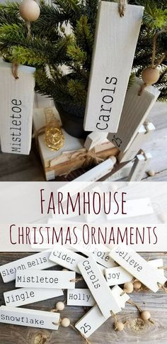 Farmhouse Christmas Ornament | Farmhouse Ornament Tags | Christmas Ornaments | Farmhouse Decor | Farmhouse Christmas | Christmas Decor | Holiday Decor | Gift Tags | Gift Ideas #ad