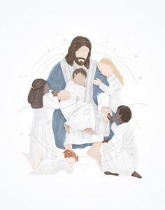 Painting Of Jesus, Paintings Of Christ, Lds Jesus Christ Pictures, Jesus Pictures, Lds Art, Bible Art, Jesus Art, God Jesus, Arte Lds