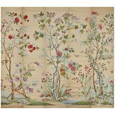 Zuber - Decor Chinois Hand Wood Blocked On Grasscloth Scenic Wall French Chinoiserie Paper Scenic Wallpaper, Wood Wallpaper, Wallpaper Panels, Painting Wallpaper, Modern Wallpaper, H Design, House Design, Spider Art, Block Painting