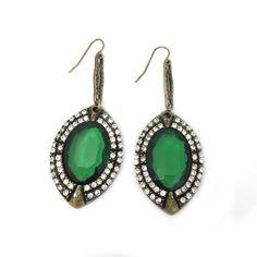 Ohrring-Ohrhaenger-Gold-Gruen-Strass-Vintage-Kristall-Oval-Modeschmuck-Glamondo