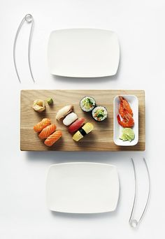 Modern TUKAANI Chopsticks for Sushi: for those who don't know how to use chopsticks.