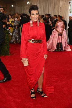 Kris Jenner inBalmain at Met Gala 2015