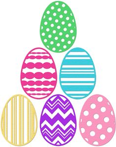 Silhouette Online Store - View Design #24502: easter eggs