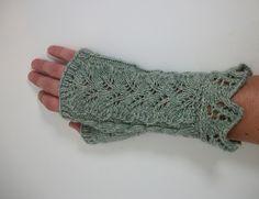 Knit Fern Garden Gloves by Patricia Sallume