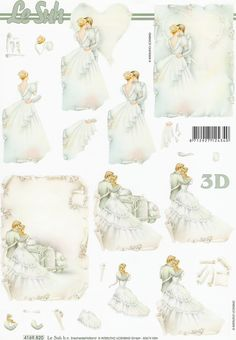 Bride and Groom Wedding Couple Decoupage Sheet Decoupage, Free Printable Christmas Cards, 3d Sheets, Image 3d, 3d Cards, Picture Cards, Wedding Groom, Print And Cut, Wedding Pictures