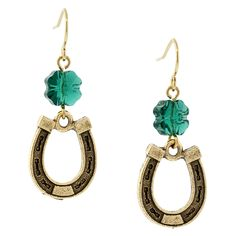 Make the Lucky Horseshoe Earrings with Swarovski Crystal Clover Beads!