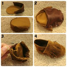 DIY Baby Moccasins via Diary of a Mad Crafter