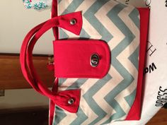 First handmade bag. Chevron.