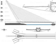 Bridge Structure, Cable Stayed Bridge, Bridge Design, Santiago Calatrava, Ponti, Seville Spain, Bridges, Engineering, Projects