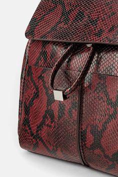4fee3ca2eb4f ZARA - Female - Animal print backpack - Burgundy - M