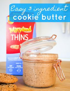 Easy 3 ingredient cookie butter recipe with Maryland Cookies. Simple and quick recipe for cookie spread. A great way to use leftover cookies.