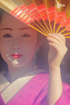 Geiko(Geisha)and Fan. #japan #kyoto #geisha #geiko #kimono #japanese culture