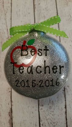 Best Teacher Ornament - Teacher Ornament - Teacher Gift - Christmas Ornament…