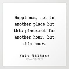 7     | Walt Whitman Quotes | 190803 Art Print by Quotes And Sayings