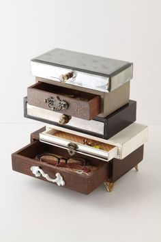 $298 Topsy-Turvy Jewelry Box - Anthropologie.com, something's gotta hold all my pinterested junk...