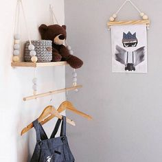 2017 Kids Baby Nordic Style Wall Wooden Pearl Shelf With Clothes Hanger On Wall Decorative Frame Props For Kids Room Gift Giving