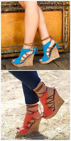 31b0102fc92d Shoespie Stylish Wedge Heel Lace-Up Peep Toe Color Block Sandals   shoespiereviews