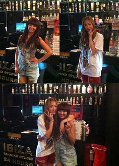 SISTAR's Hyorin and Soyu spotted at the tanning salon