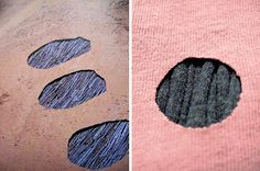"""for stick-play inspiration ___ Left: Image from the book """"Time"""" by Andy Goldsworthy. Right: fabric manipulation by Annekata inspired by image on left"""