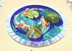 Koi fish mosaic. Japon balıkları mozaik.