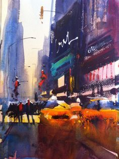 NY artwork by Alvaro Castagnet, done just hours before Hurricane Sandy.  Beautiful!