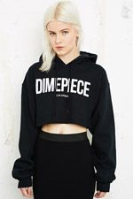 Dimepiece Crop Hoodie at Urban Outfitters