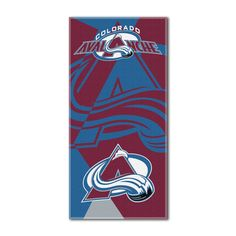 """Avalanche OFFICIAL National Hockey League, """"Puzzle"""" 34""""x 72"""" Over-sized Beach Towel - by The Northwest Company"""