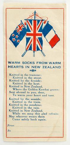 Comfort parcel label | NZHistory, New Zealand history online