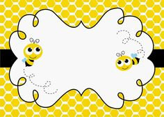 Diy Birthday Invitations, Bee Invitations, Bumble Bee Birthday, Spelling Bee, Bee Cards, Cute Bee, Creations, Crafty, Illustration