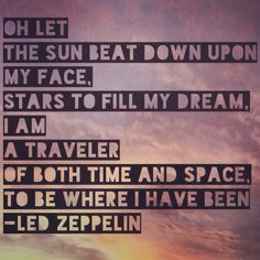 Led Zeppelin lyrics for Kashmir.