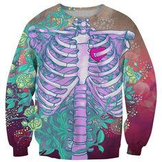 Chicnova Fashion Skeleton Print Sweatshirt ($12) ❤ liked on Polyvore featuring tops, hoodies, sweatshirts, blue top, crewneck sweatshirt, skeleton top, crew-neck sweatshirts and crew neck sweatshirts
