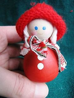 Vintage-Wood-Christmas-Doll-Elf-Gnome-Santa-Tomte-Sweden-Figurine-Figure-3