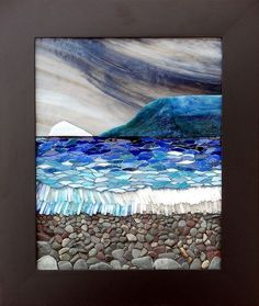 Love it. Mosaic beach scene.