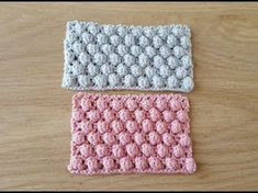 This crochet stitch has a lovely texture and makes a cozy warm blanket for a new baby. This is an easy crochet pattern suitable for beginners :) Let's Stitch. Afghan Crochet Patterns, Crochet Chart, Baby Knitting Patterns, Crochet Stitches, Crochet Baby, Pop Corn, Bobble Stitch, Crochet Videos, Crochet Projects