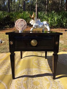 Excited to share the latest addition to my #etsy shop: Custom Renewed American of Martinsville End Table with drawer. Completed with  General Finishes products. #hollywoodregency #furniture #brown #black #midcenturymodern #general finishes
