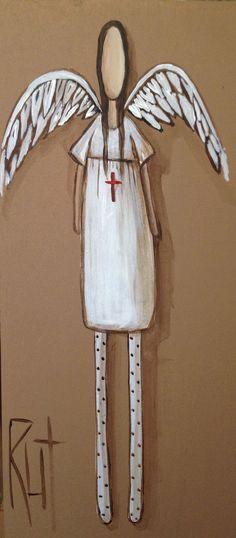 angel painting by Rut Willow Tree Angels, Decoupage, Angel Drawing, Prophetic Art, Angel Art, Love Art, Art Pictures, Art Boards, Fantasy Art