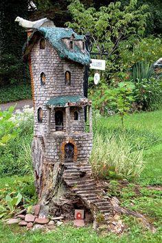 tree stump miniature fairy garden