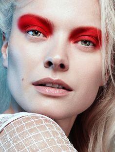 Franziska Knuppe for Maxima Magazine by Frauke Fischer (Makeup by beauty artist Melanie Schoene at Blossom Management)
