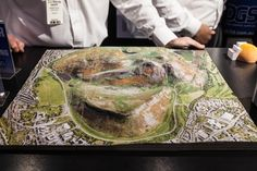 Topographical map, 3D printed in full colour by the Mcor IRIS machine (Photo: Loz Blain) http://www.thecolumbiastar.com/node/84952
