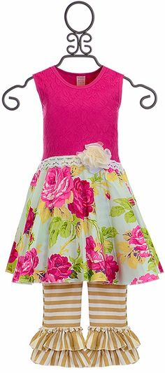 Giggle Moon Lilly Dress with Capri Living Water