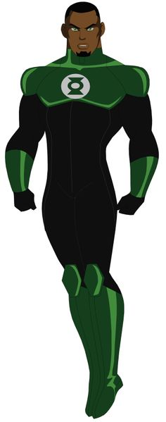 If you're a DC fan like me, then you probably love all the DC characters most iconic costumes! New Green Lantern (John Stewart) Black Characters, Comic Book Characters, Comic Book Heroes, Comic Books Art, Comic Art, Black Green Lantern, Green Lantern Corps, Green Lanterns, John Stewart Green Lantern
