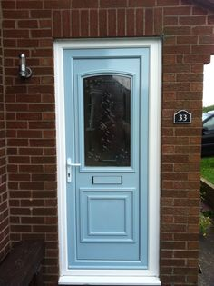 Upvc front door. 2K car paint using air compressor.  Designs by Neil Fox