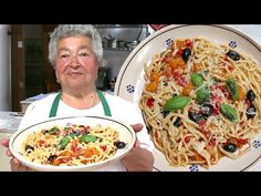 Pasta Grannies discover giant spaghetti hoops called stringozzi! - YouTube Fun Pasta, Yummy Pasta Recipes, Fun Recipes, Pasta Shapes, Fresh Pasta, Italian Pasta, Food Staples, Pasta Dishes, Food Porn